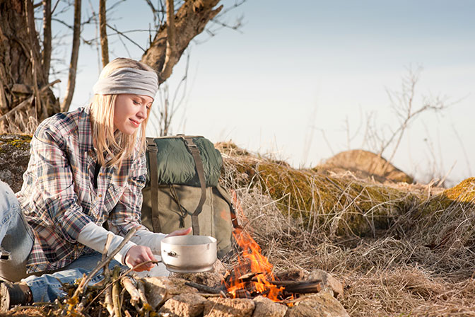 Cooking Vegetable Campfire Hobo Packets