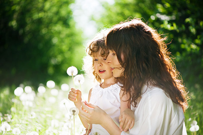 Mother and Child with Dandelions